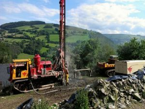 Hillside drilling
