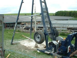 Triangle rig on farm